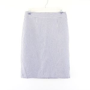 Banana Republic Skirts - Banana Republic Blue White Stripe Seersucker Skirt